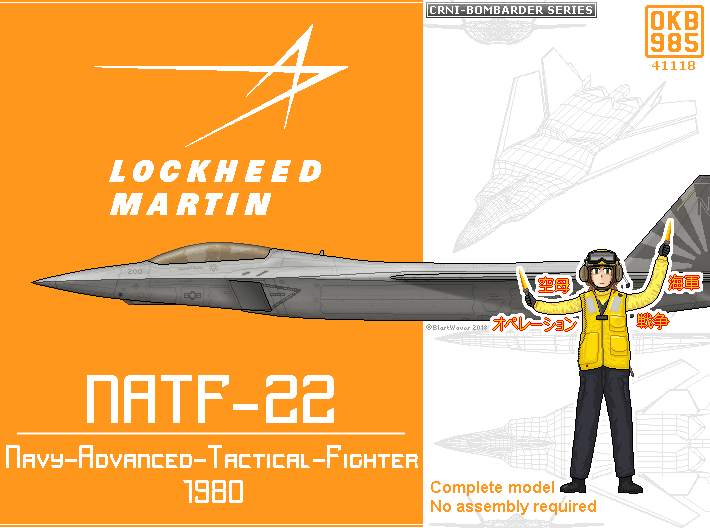 NATF-22 (Navy-Advanced-Tactical-Fighter) 3d printed