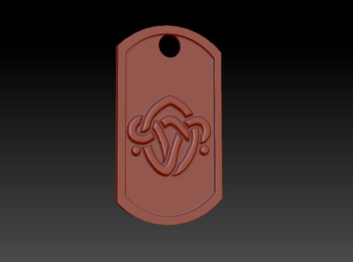 Horizon: Zero Dawn Nora Brave Themed Dog Tag 3d printed