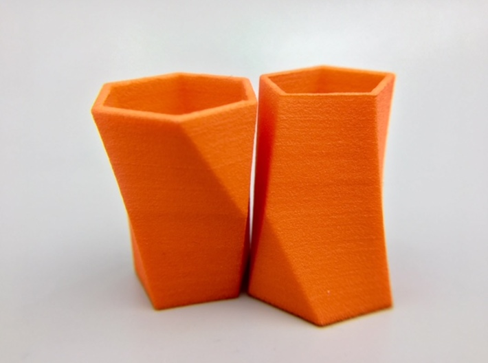 "Pair of Packable Scutoids 3d printed Order ""Small"" for hollow models or ""Large"" for (same size) solid models"