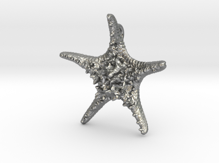 Knobby Starfish Pendant (Small, Solid) 3d printed