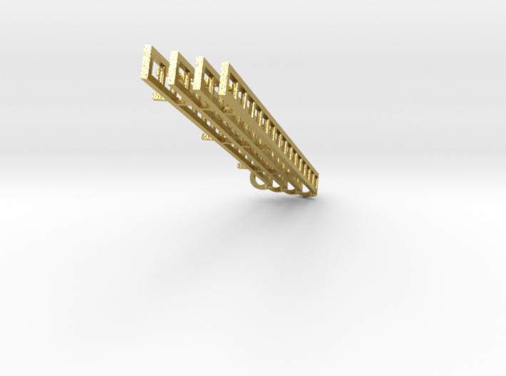 Signal Ladder 4 pc 15ft no platform BRASS  3d printed