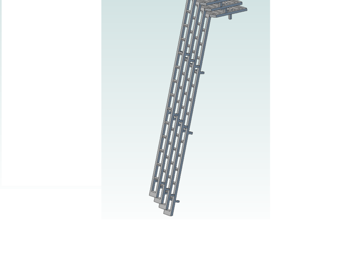 ladder 4 pc 2 in 14ft Assembly (1) 3d printed pack of 4 ladders