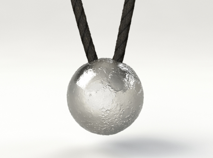 Full Silver Moon (Pendant 20mm) 3d printed The White Side of the Moon