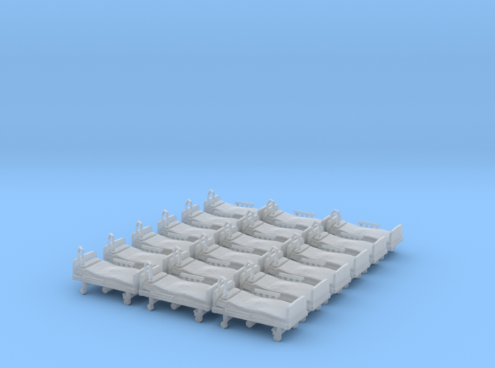 Hospital Bed 01. HO Scale (1:87) 3d printed