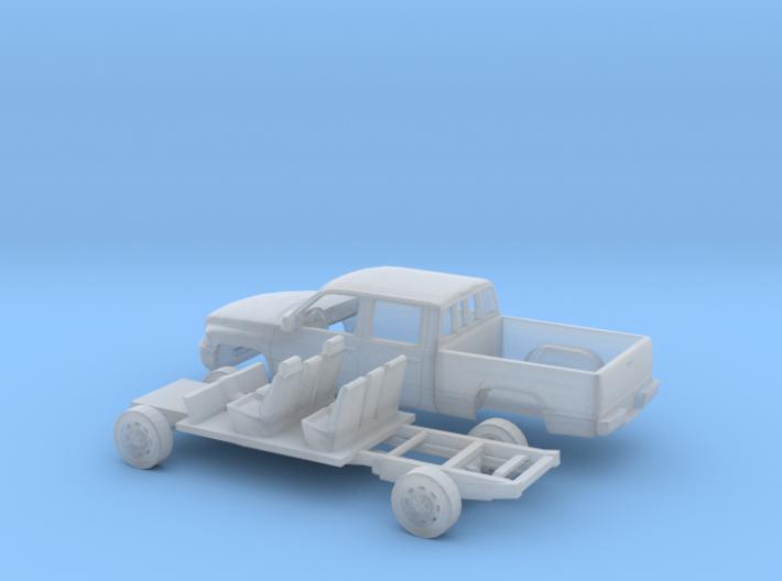 1/160 1994-01 Dodge Ram Crew Cab Regular Bed Kit 3d printed