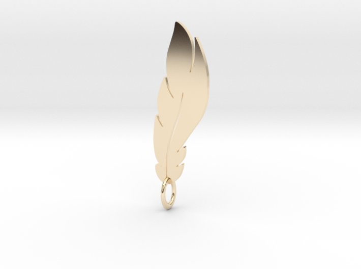 feather pendant 3d printed