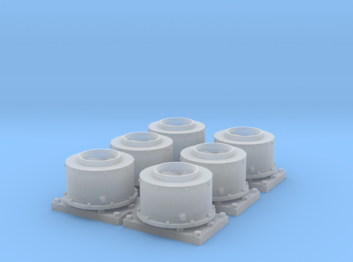 GP Series Round Spark Arrestor (N - 1:160) 6X 3d printed