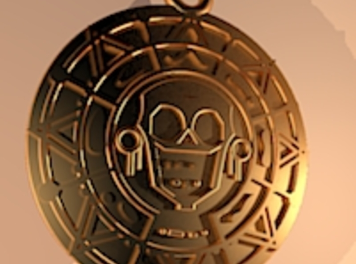 Pirate Gold Medallion 3d printed Add a caption...