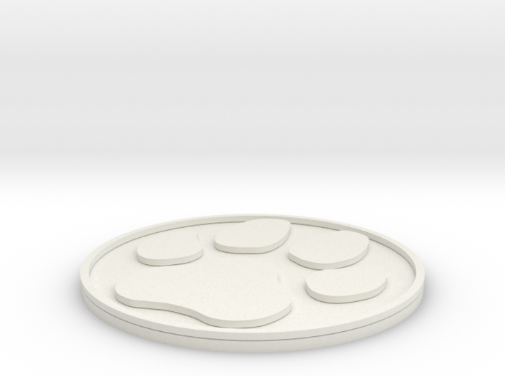 Paw Print Coaster 3d printed