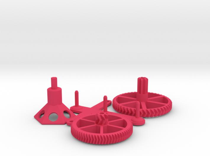 Hand-powered Picofuge (6 x 1.5ml tubes) 3d printed