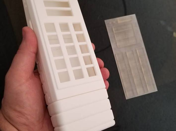 Space: 1999 radiation monitor body bottom - part 2 3d printed