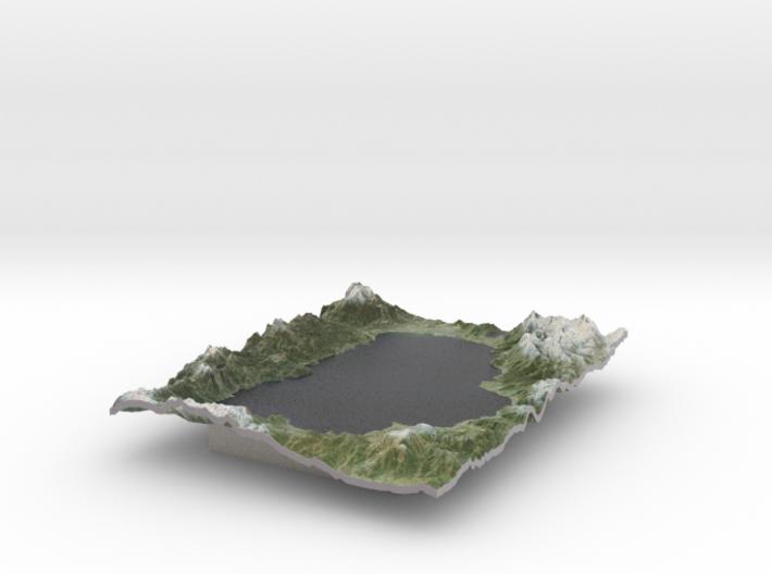 Lake Tahoe Map, California / Nevada 3d printed