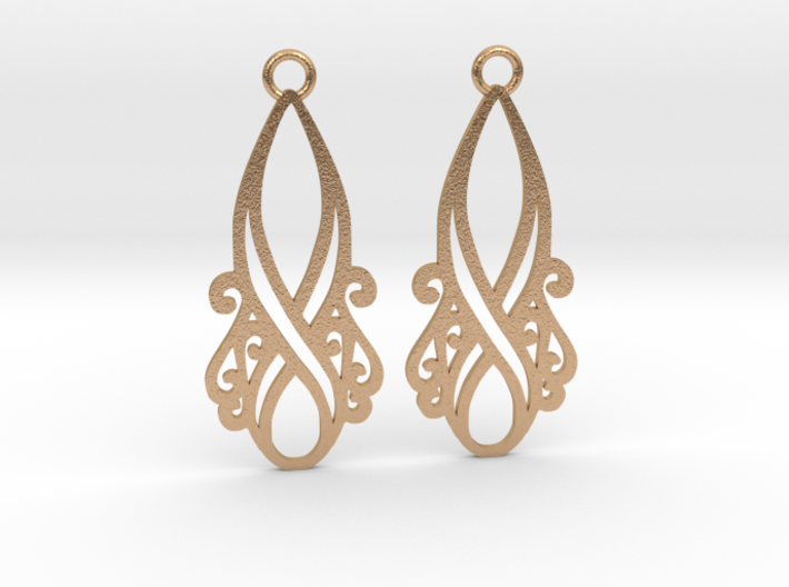 Lorelei earrings 3d printed