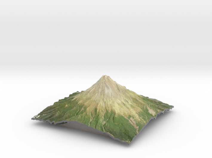 "Mt Taranaki Map - 9"" 3d printed"