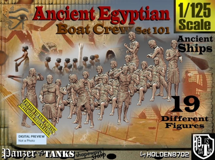 1/125 Ancient Egyptian Boat Crew Set101 3d printed