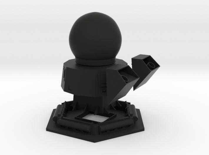 1/96 scale Bergamini Main Mast with Radar 3d printed