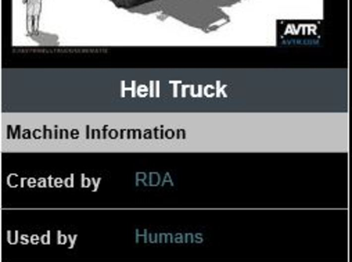 Hell Truck v1 285 scale 3d printed Size check