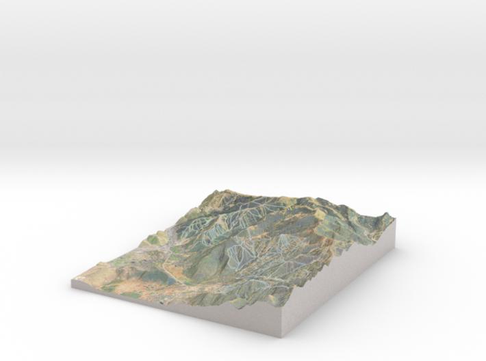 Park City Ski Map, Utah - Hillshade 3d printed