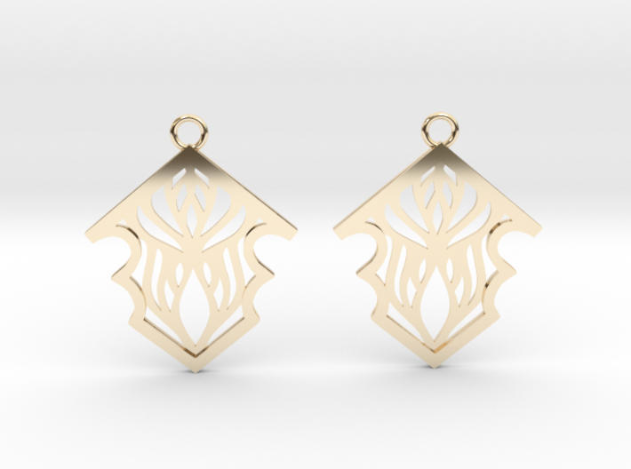 Earleen earrings 3d printed