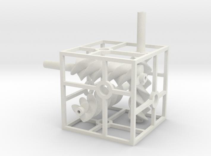Triple helix 3d printed