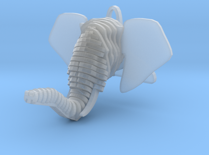 Sliced Elephant head Pendant 3d printed