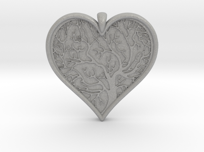 Tree of life Heart pendant 3d printed