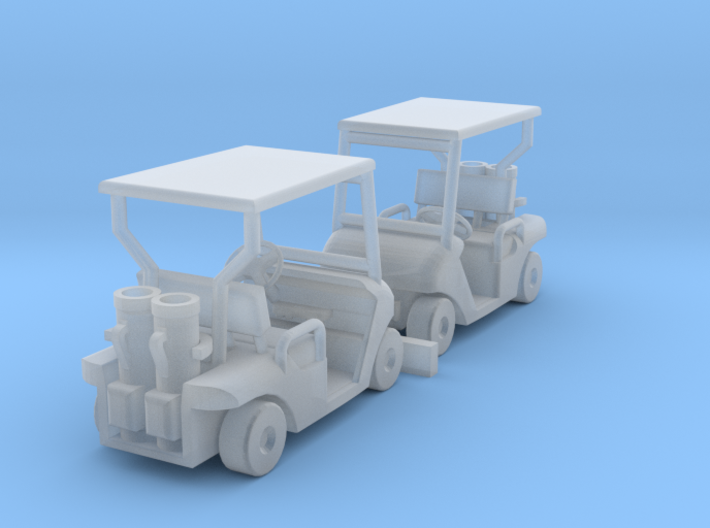 1:100 Golf cart x2, kit 3d printed