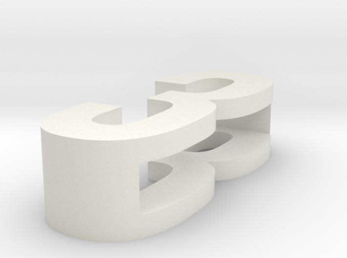 CHOKER SLIDE LETTER 3 1⅛, 1¼, 1½, 1¾, 2 inch sizes 3d printed