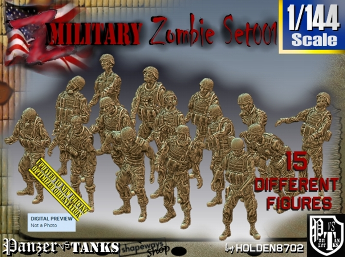 1/144 Army Zombies Set001 3d printed