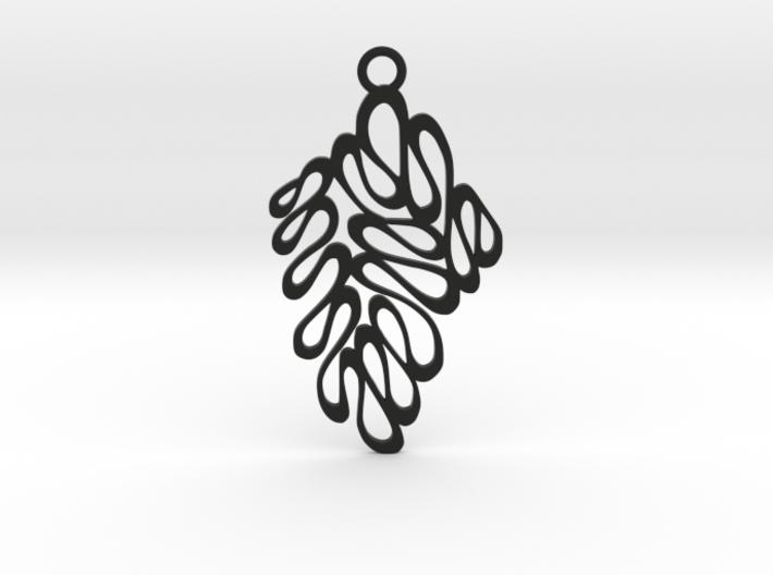 Wave pendant 3d printed