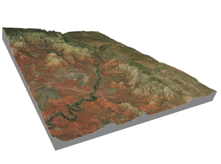 Sedona Arizona Map: 8.5x11 3d printed