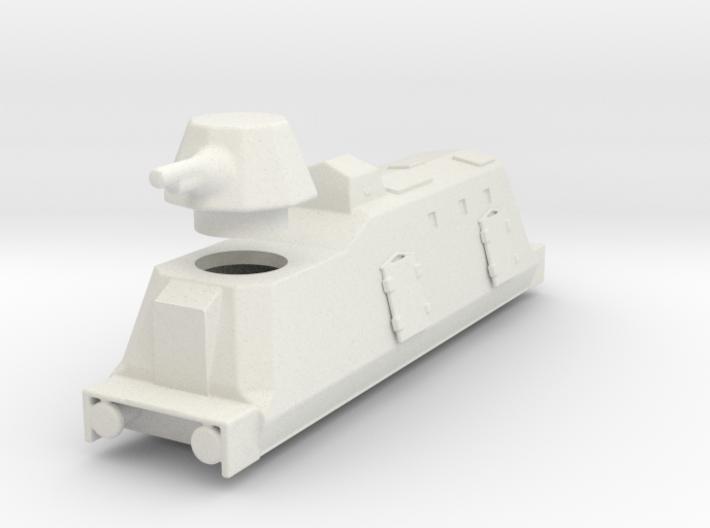 Panzerzüge artileriewagon armored train ho 3d printed