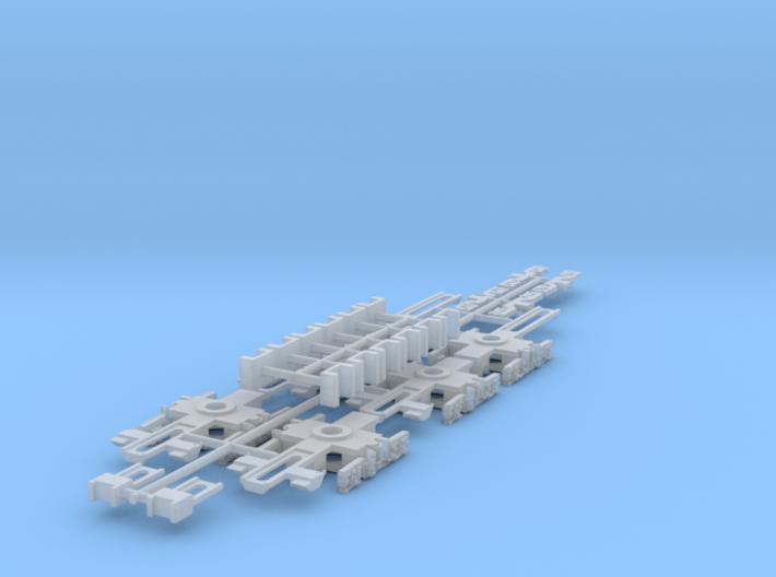 NXBS - N Scale Xtrapolis Bogie Set 3d printed