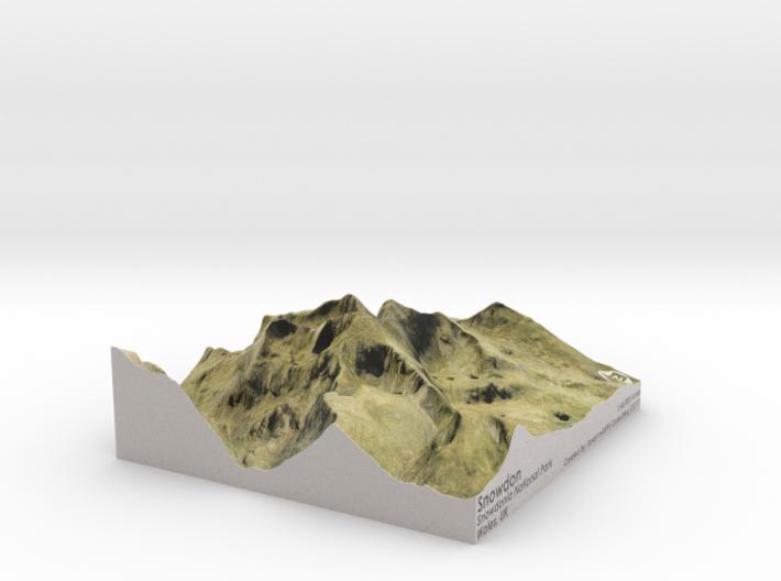 Snowdon Map, Wales 3d printed