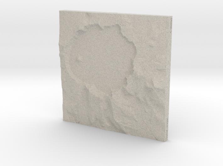 6'' Crater Lake, Oregon, USA, Sandstone 3d printed