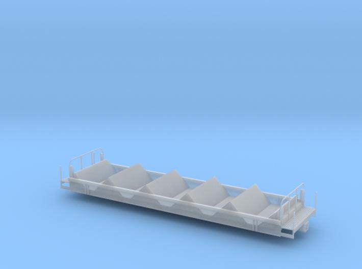 Coil Car Base - HOscale 3d printed