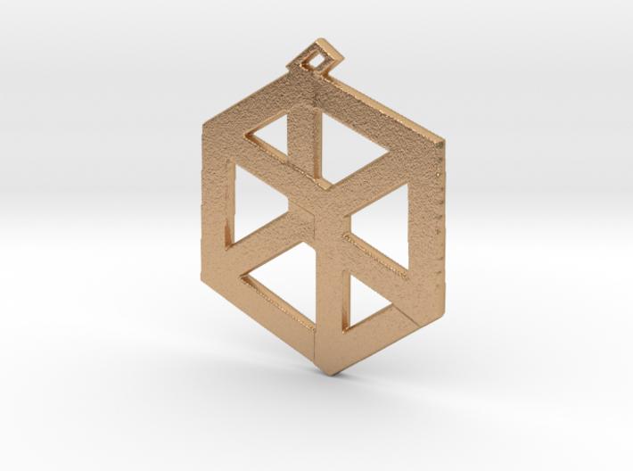 Large Pandora's Box Pendant 3d printed