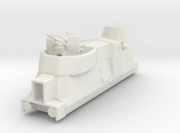 Panzerzüge flakewagon armored train ho 3d printed