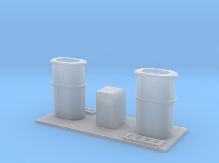 1/125 Scale YMS-1 to 134 Stacks for Revell Calypso 3d printed