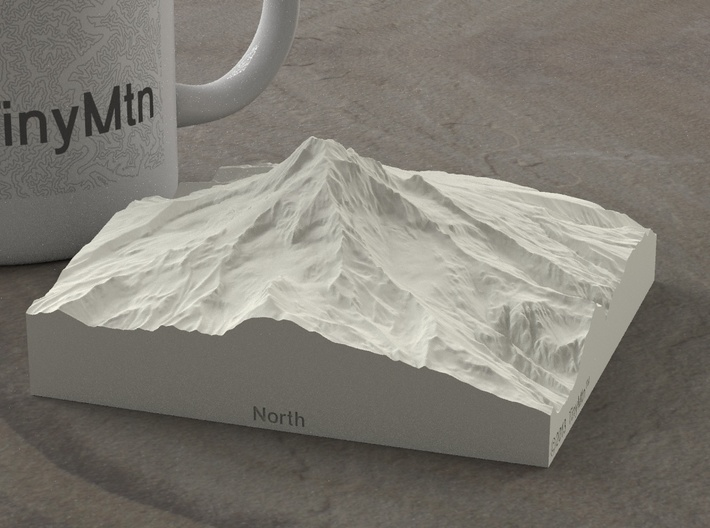 4'' Mt. Hood, Oregon, USA, Sandstone 3d printed