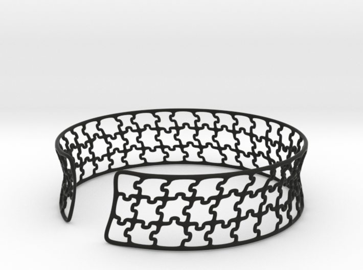 jigsaw pattern cuff 3d printed