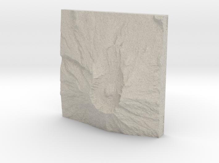 8'' Mt. St. Helens, Washington, USA, Sandstone 3d printed
