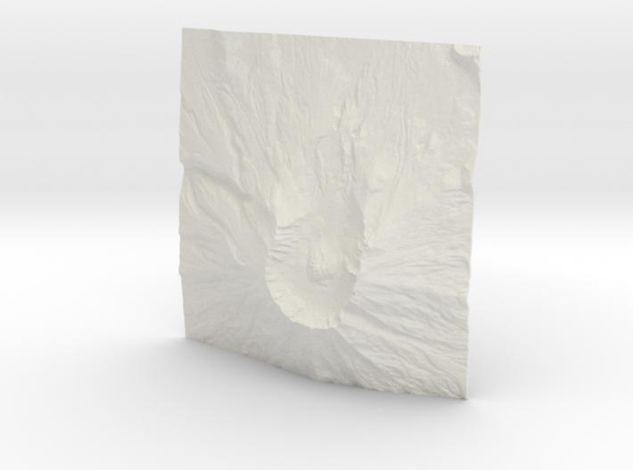 4'' Mt. St. Helens, Washington, USA 3d printed