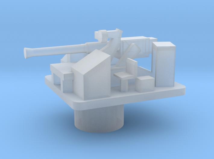Bofors 40 mm L/60 Mk gun (1:200) 3d printed
