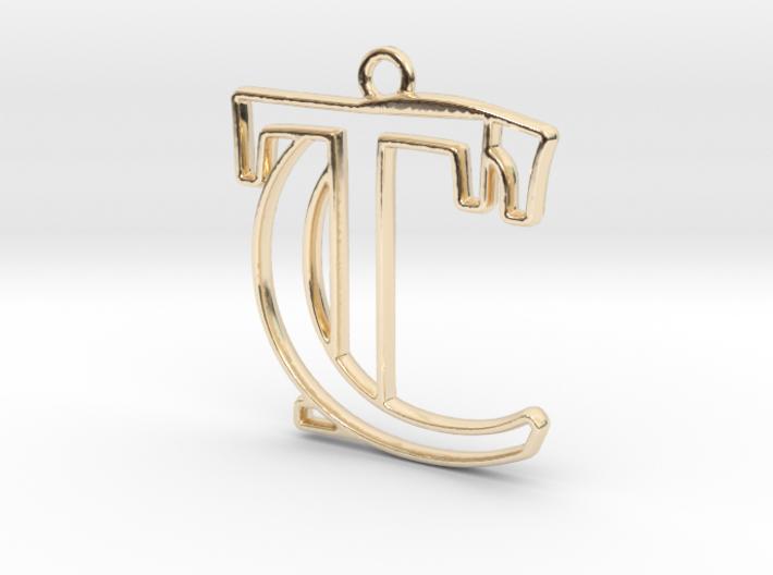 Initials C&T monogram 3d printed