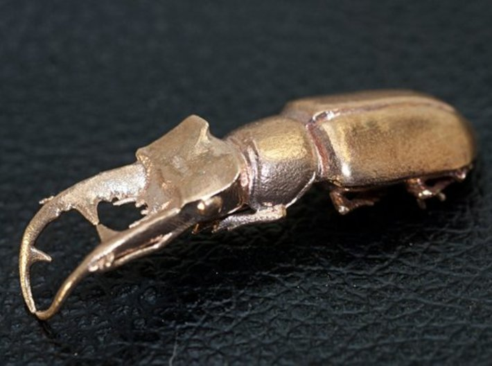 Stag beetle with closed jaws  3d printed