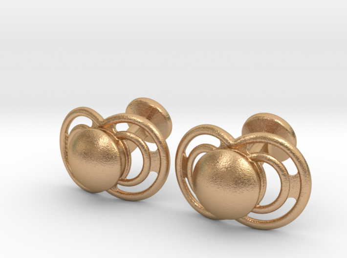 Pacifier Cufflinks 3d printed