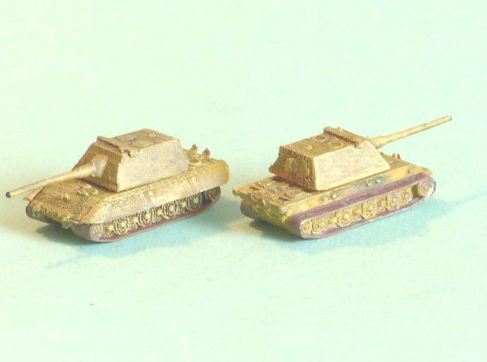 E-100 Heavy Tank Turret Variant 1 1/285 6mm 3d printed Add a caption...