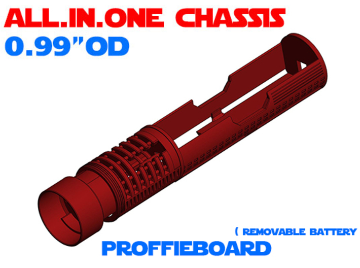 """ALL.IN.ONE - 0.99""""OD - ProffieBoard 3d printed"""