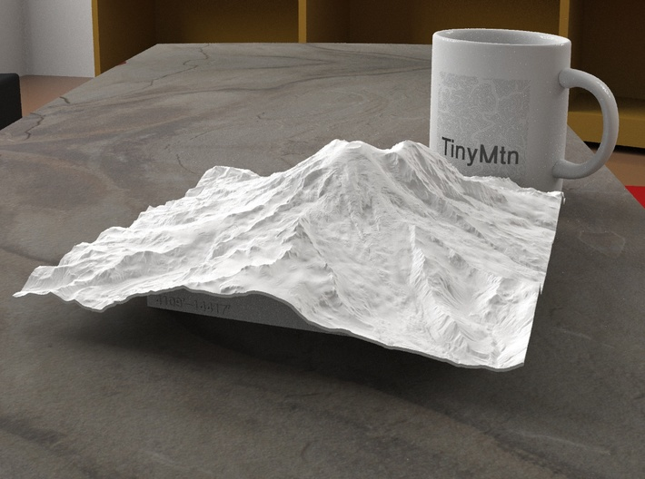 8'' Mt. Rainier, Washington, USA 3d printed